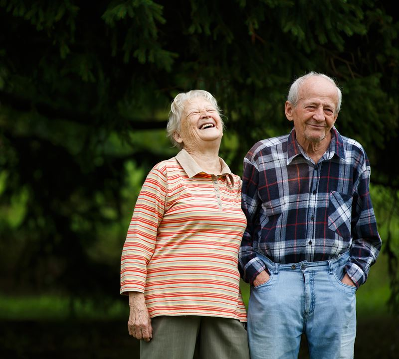 Retirement age couple